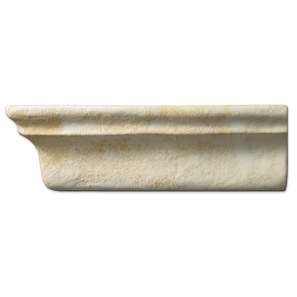 Crown Molding Left End 2x6 inch Primal White