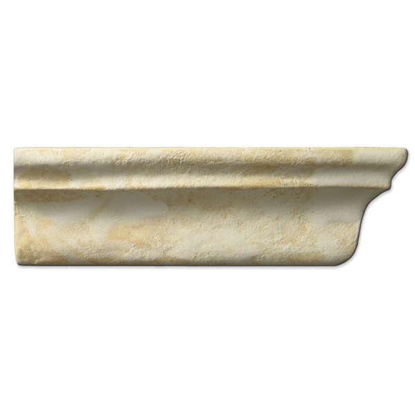 Crown Molding Right End 2x6 inch Primal White