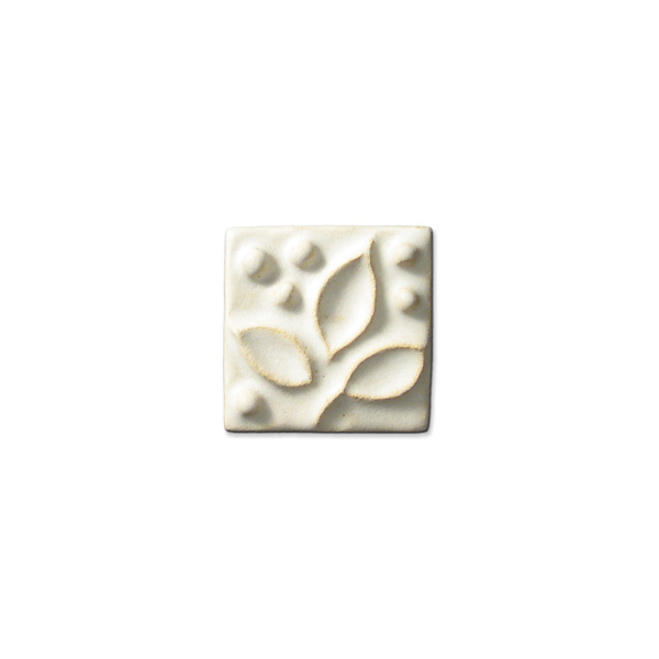 Meadow Vine Corner 2x2 inch Ancient White