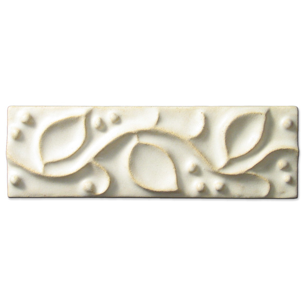 Meadow Vine Border 2x6 inch Ancient White