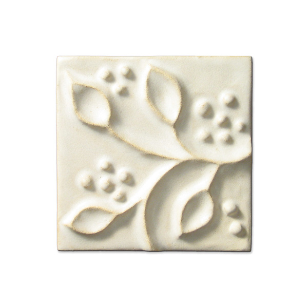 Meadow Vine Corner 4x4 inch Ancient White
