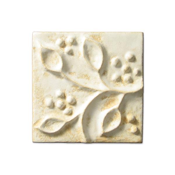 Meadow Vine Corner 4x4 inch Primal White