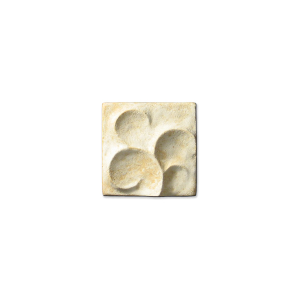 Scrolling Vine Corner 2x2 inch Primal White