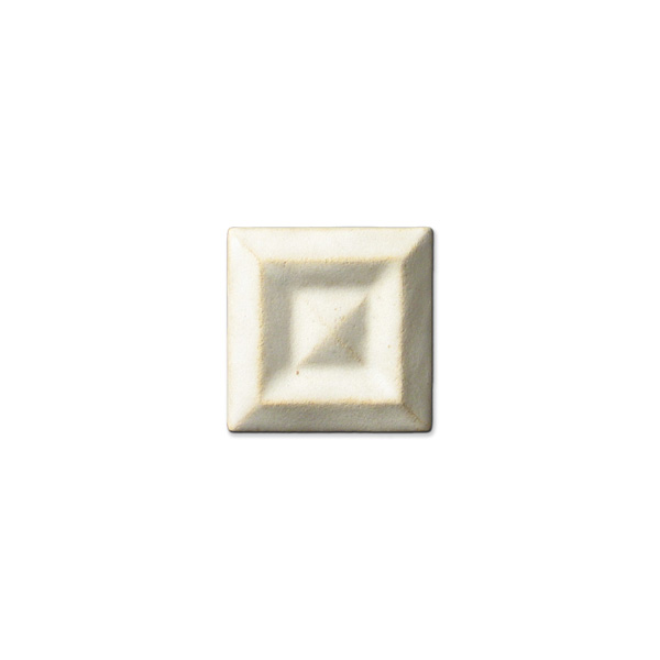 Shadow Square Corner 2x2 inch Ancient White