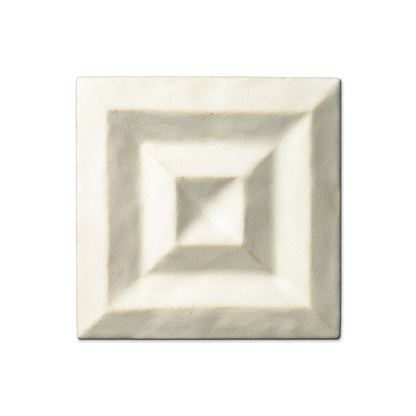 Shadow Square 4x4 inch Ancient White