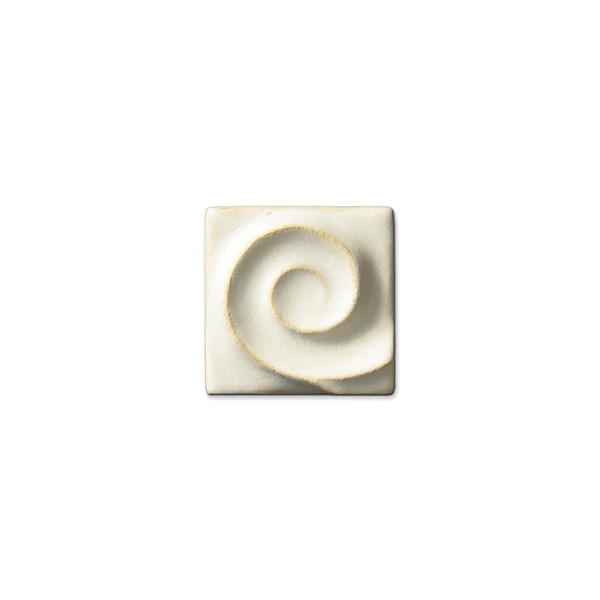 Spiral Wave Corner 2x2 inch Ancient White