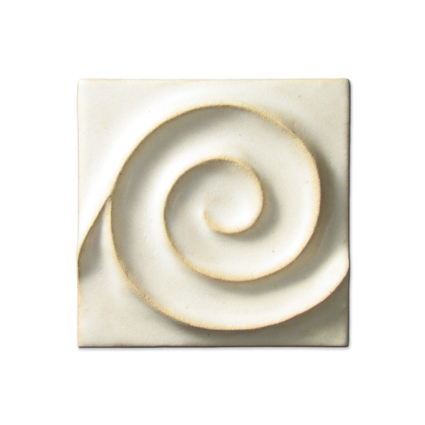 Spiral Wave 4x4 inch Ancient White