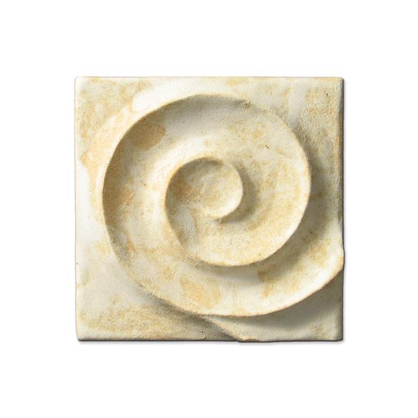 Spiral Wave Corner 4x4 inch Primal White