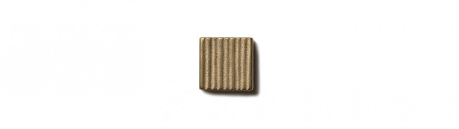 "Beach Grass Inset 0.75x0.75"" accent tile  Traditional Bronze"