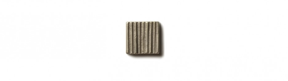 "Beach Grass Inset 0.75x0.75"" accent tile  White Bronze"