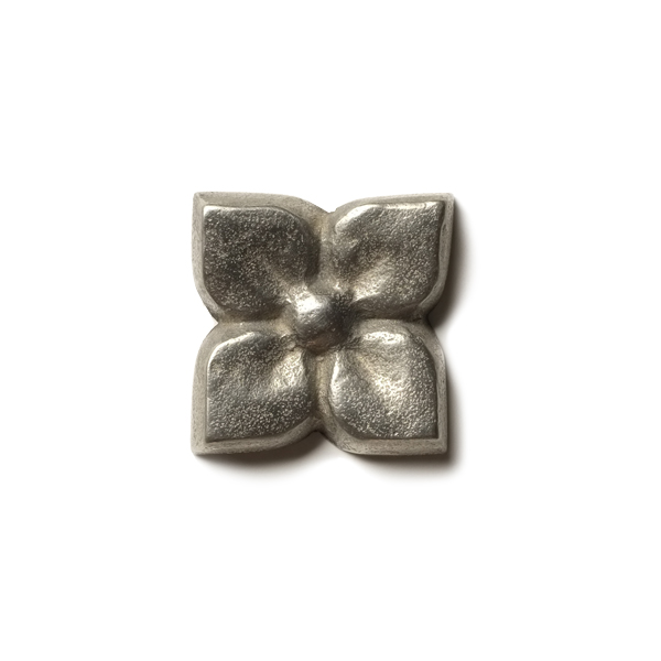 """Blooming Leaf 1.25x1.2"""" accent tile  White Bronze"""