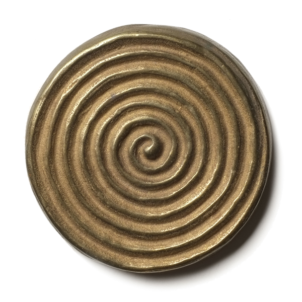 "Petroglyph 2.5x2.5"" accent tile  Traditional Bronze"