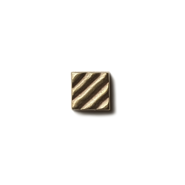 """Ruffle 0.63x0.63"""" accent tile  Traditional Bronze"""