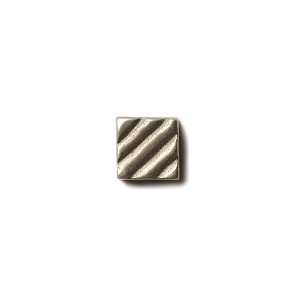 "Ruffle 0.63x0.63"" accent tile  White Bronze"