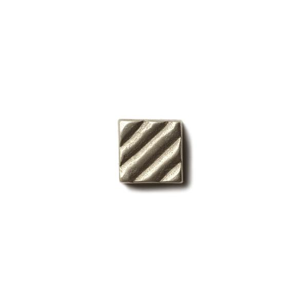 "Ruffle 0.63x0.63"" accent tile  White Bronze"