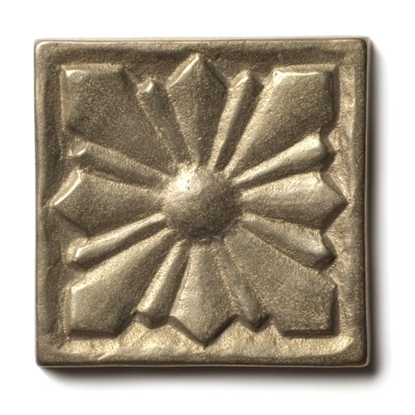 "Sunrise 1.25x1.25"" accent tile  White Bronze"