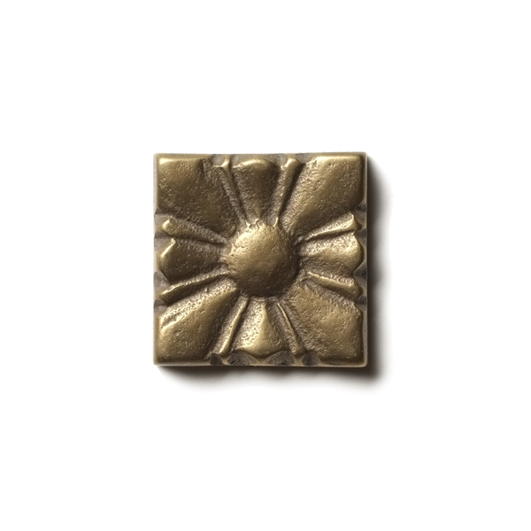"Sunrise 1.25x1.25"" accent tile  Traditional Bronze"