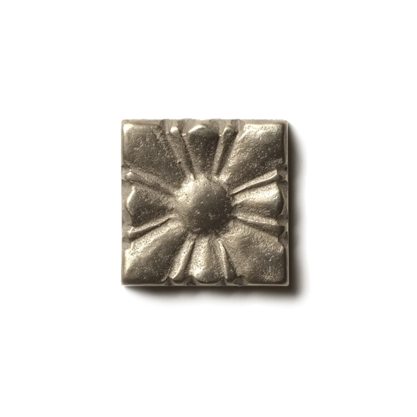 "Sunrise 1.25x1.25"" accent tile  White Bronze"
