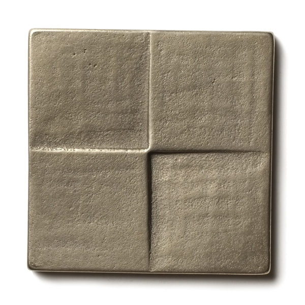 "Terrace 2.5x2.5"" accent tile  White Bronze"