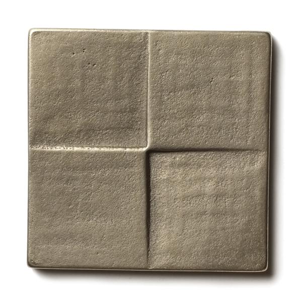 """Terrace 2.5x2.5"""" accent tile  White Bronze"""