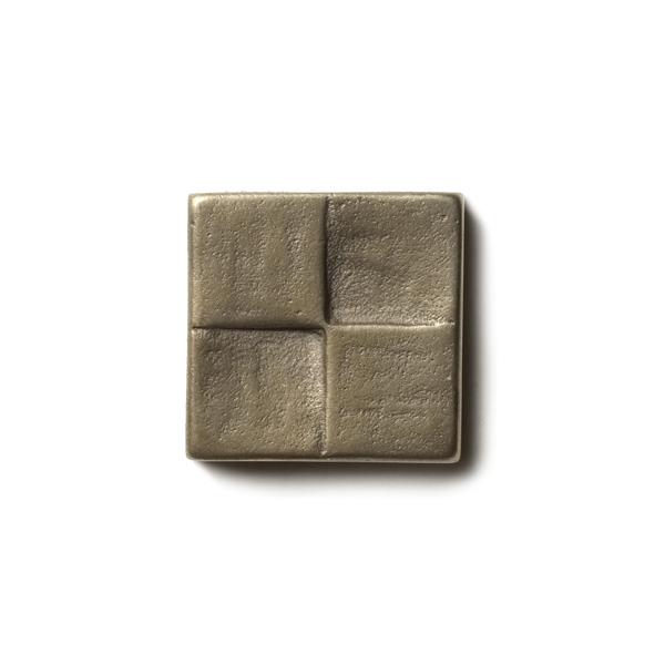 """Terrace 1.25x1.25"""" accent tile  White Bronze"""