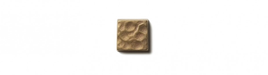 """Water Song Inset 0.75x0.75"""" accent tile Traditional Bronze"""