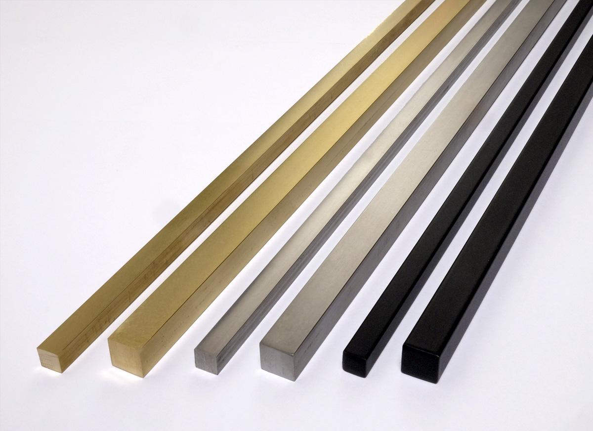 Left to right: Hepburn Living Brass, Hepburn Stainless Steel, Matte Black