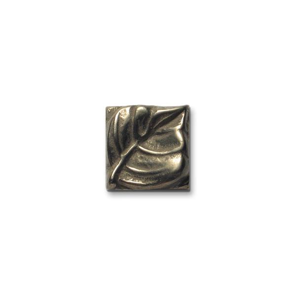 Aspen Leaf 1x1 inch White Bronze