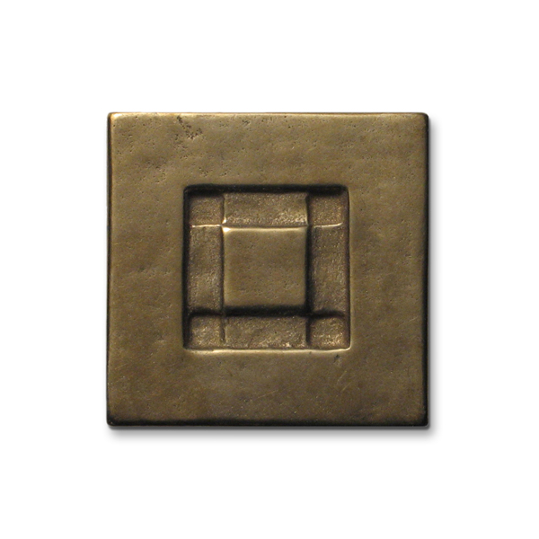 Center Square 2x2 inch Traditional Bronze