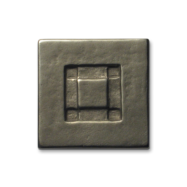 Center Square 2x2 inch White Bronze