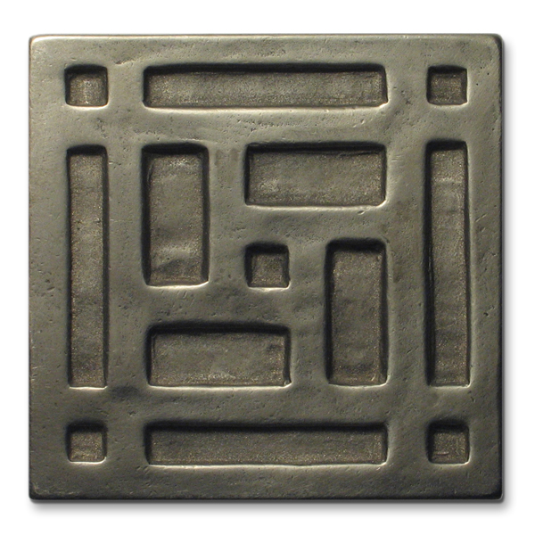 Grid 3x3 inch White Bronze