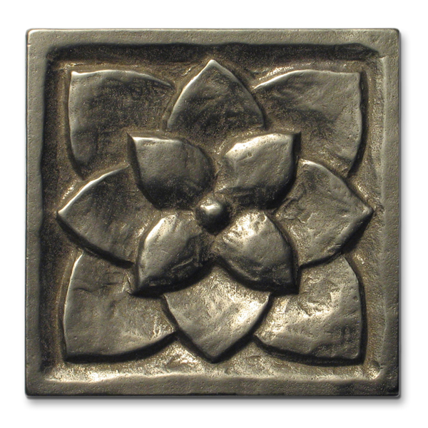 Lotus 3x3 inch White Bronze