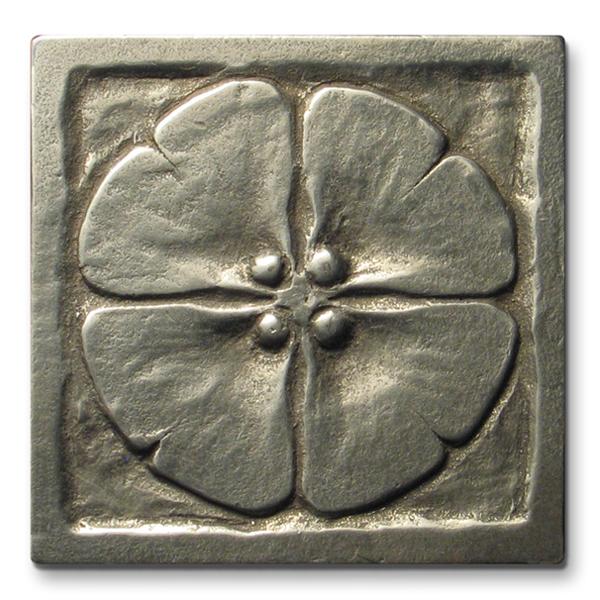Moon Blossom 3x3 inch White Bronze