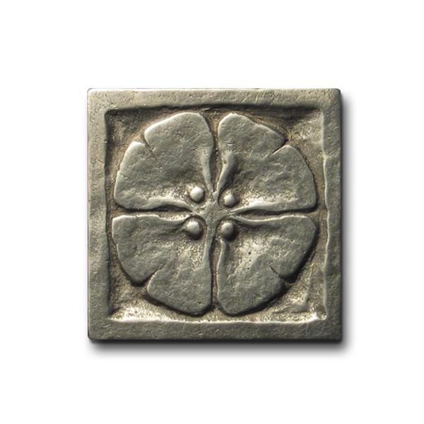 Moon Blossom 2x2 inch White Bronze