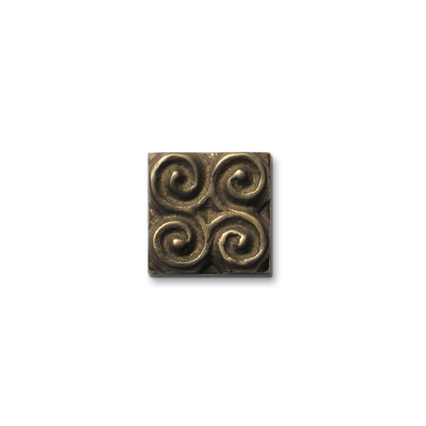 Pinwheel 1x1 inch Traditional Bronze