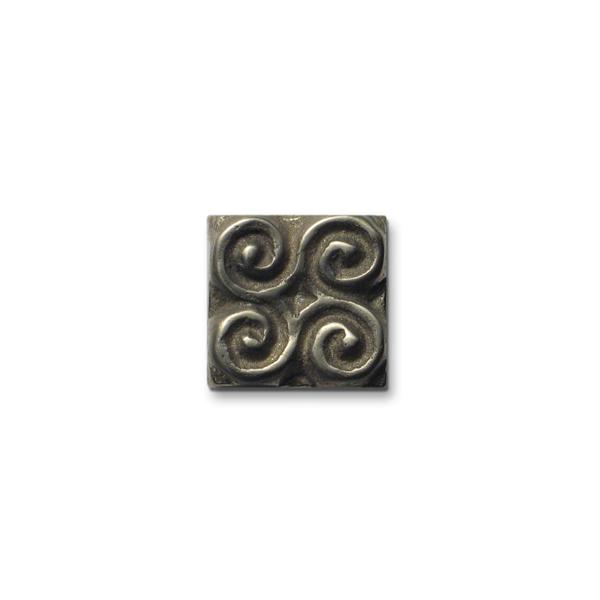 Pinwheel 1x1 inch White Bronze