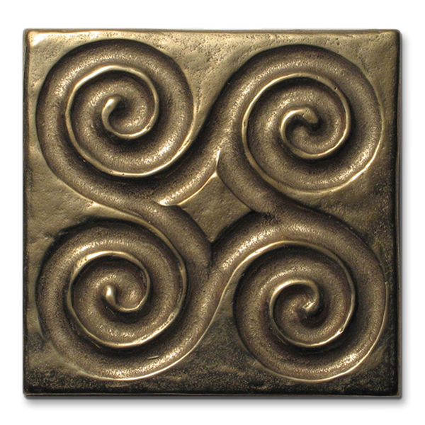 Pinwheel 3x3 inch Traditional Bronze