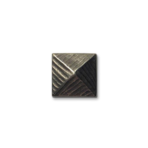 Pyramid 1x1 inch White Bronze