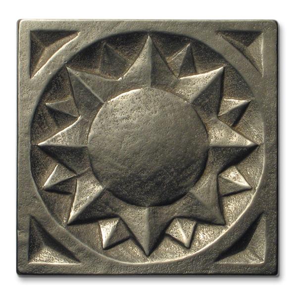 Sun 3x3 inch White Bronze