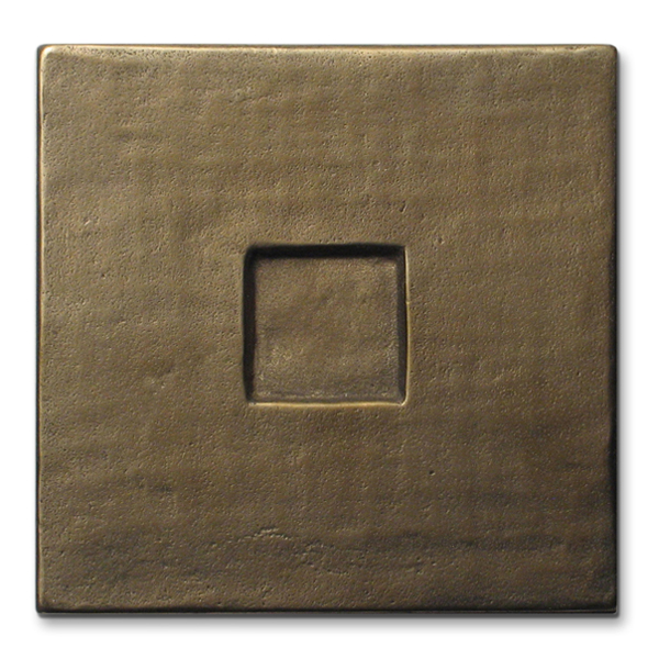 Square 3x3 inch Traditional Bronze