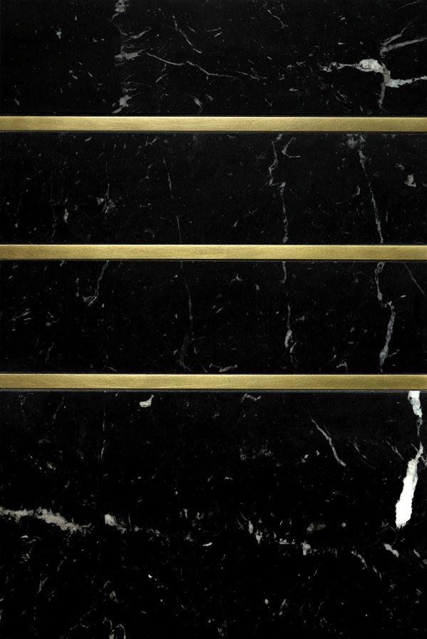 "Living Brass 3/8"" · Black Marble"
