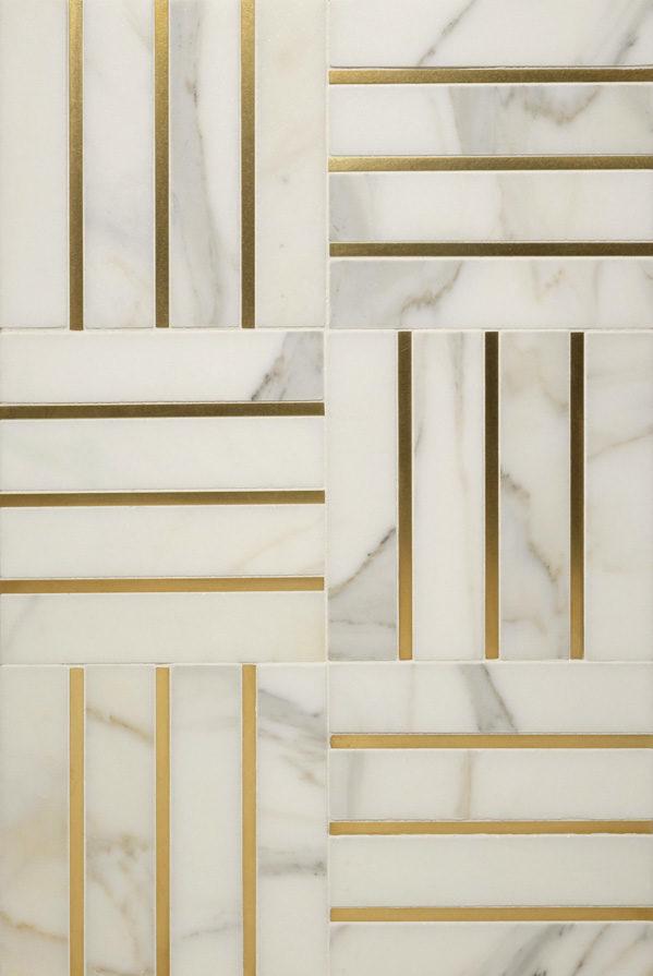"Living Brass 1/4"" · White Marble"